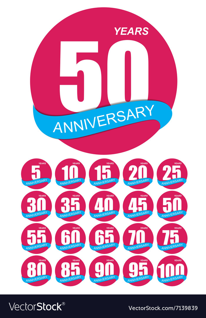 Template logo anniversary set vector