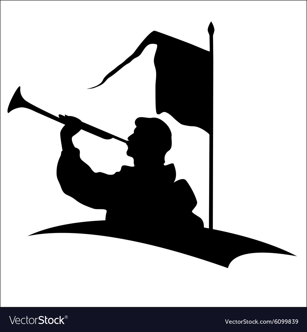 Trumpeter silhouette vector