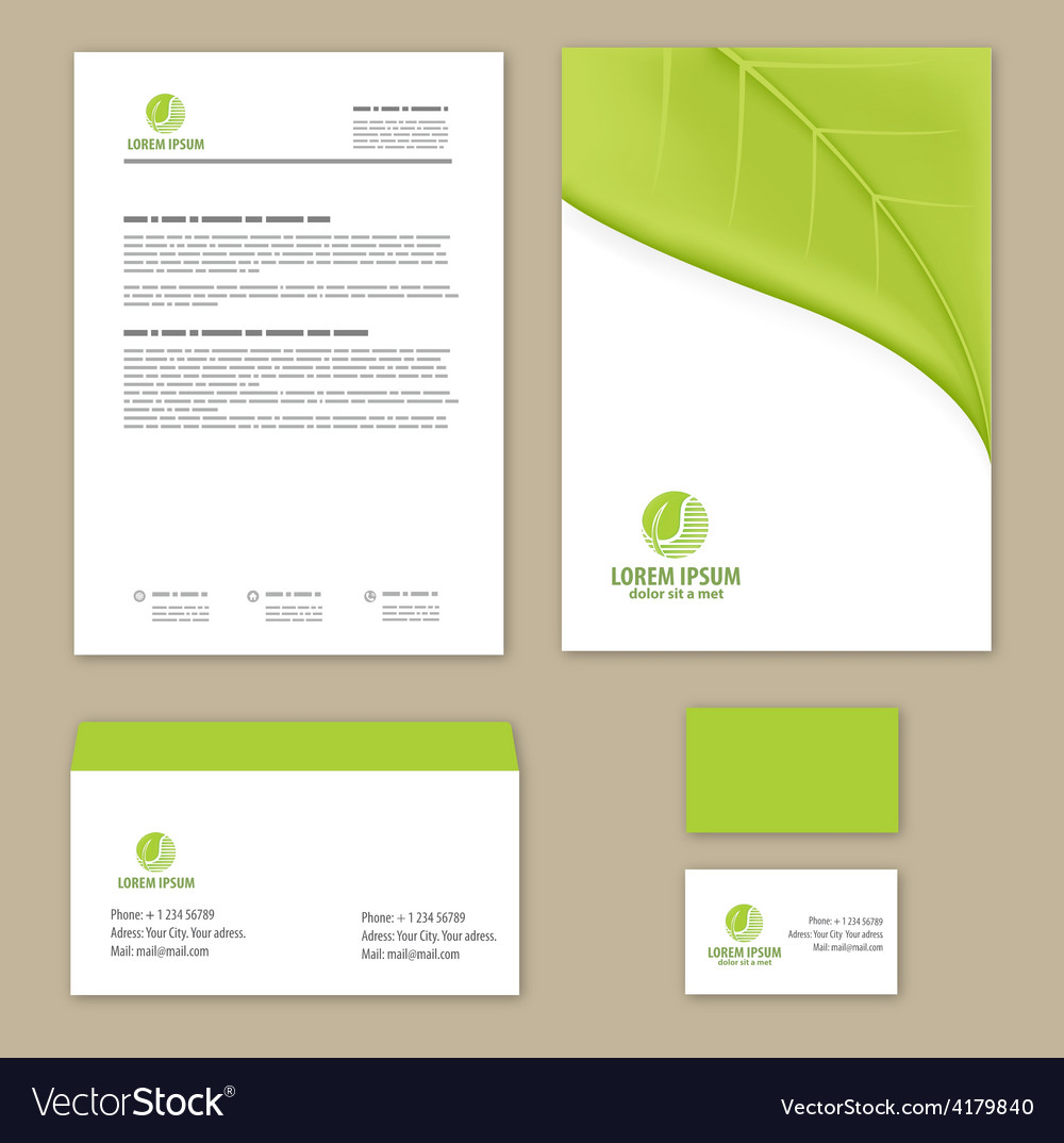Eco green leaf logo template vector