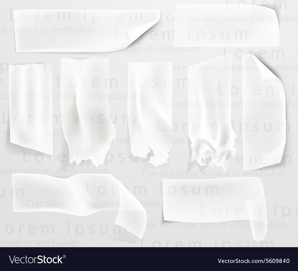 Transparent adhesive tape scotch tape vector