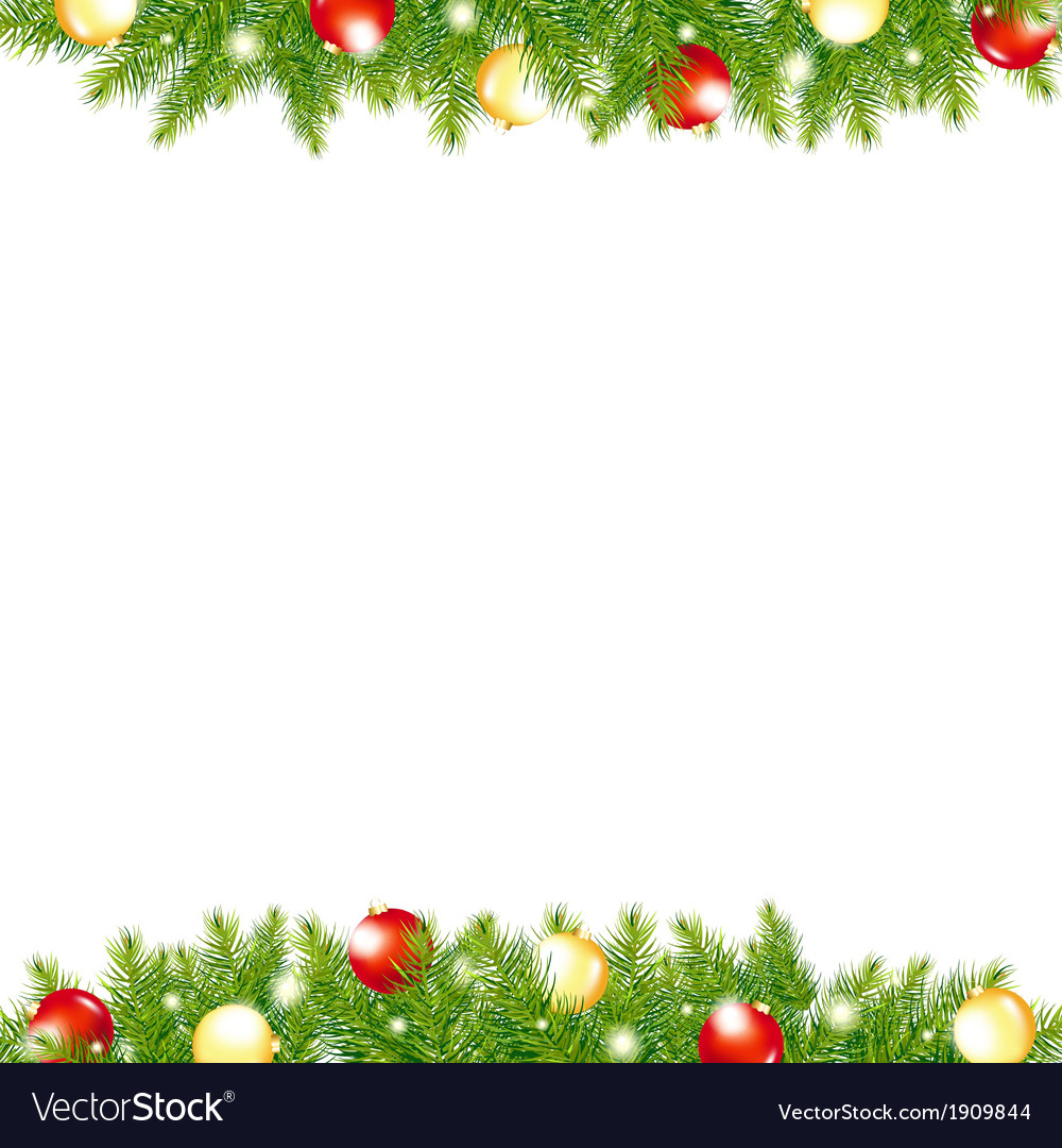 Xmas and happy new year border vector