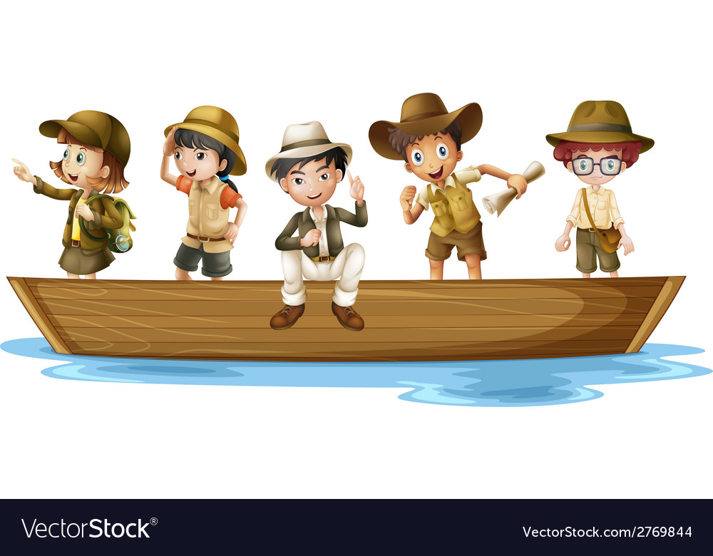Young explorers vector