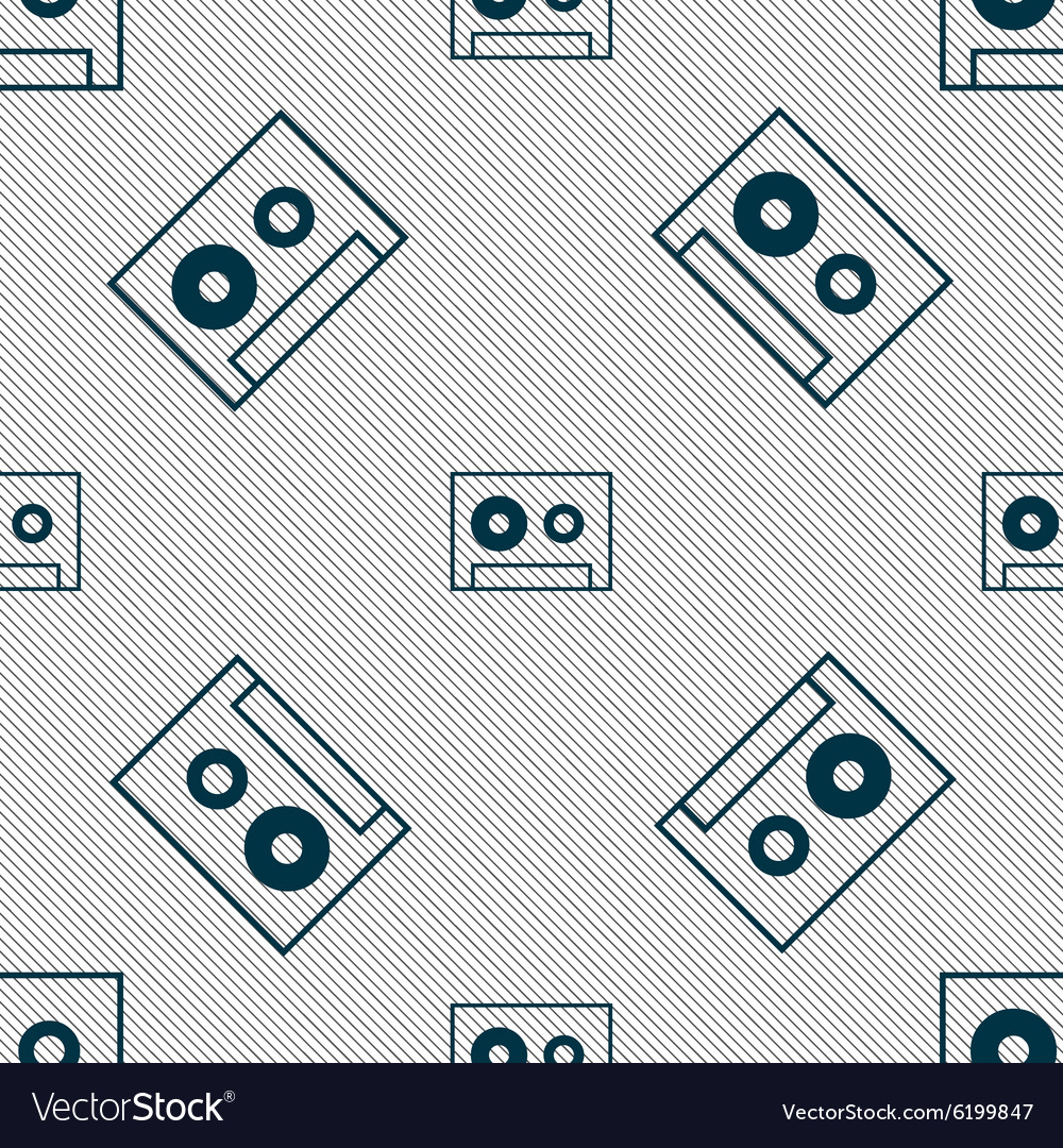 Cassette sign icon audiocassette symbol seamless vector
