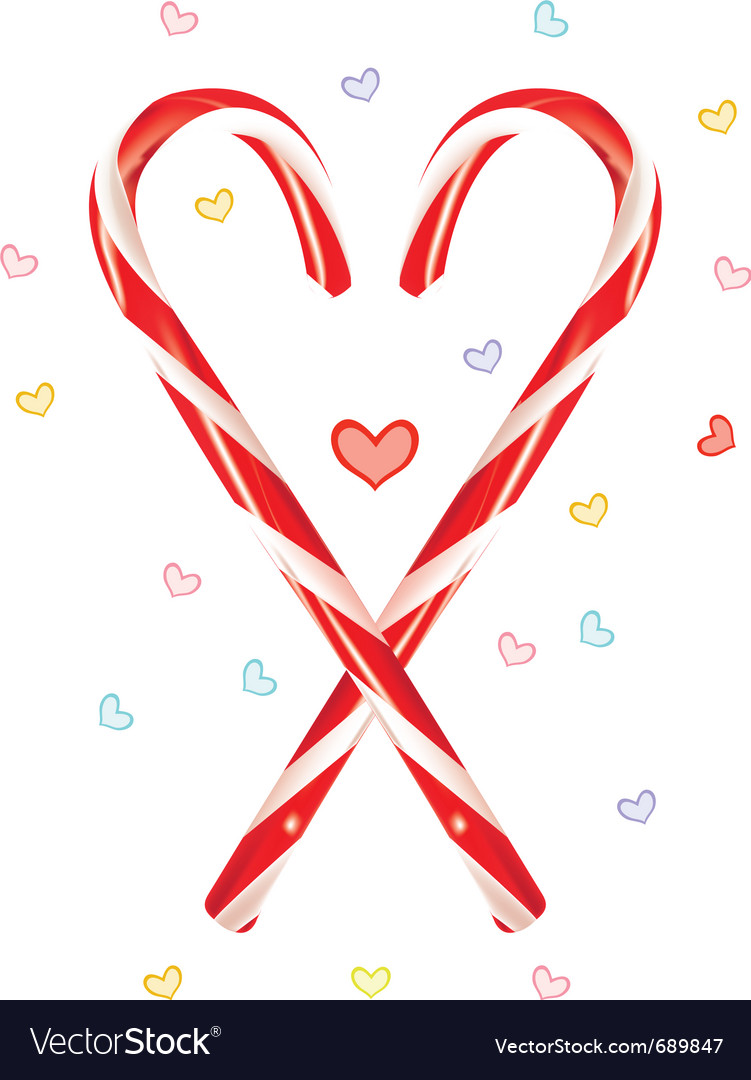 Lovely candy cane vector