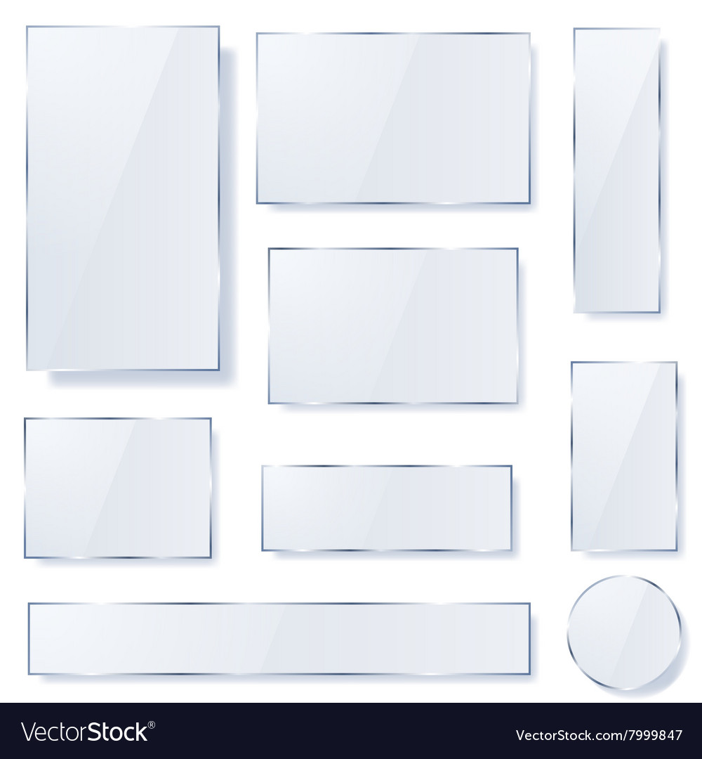 Opaque glass plates vector