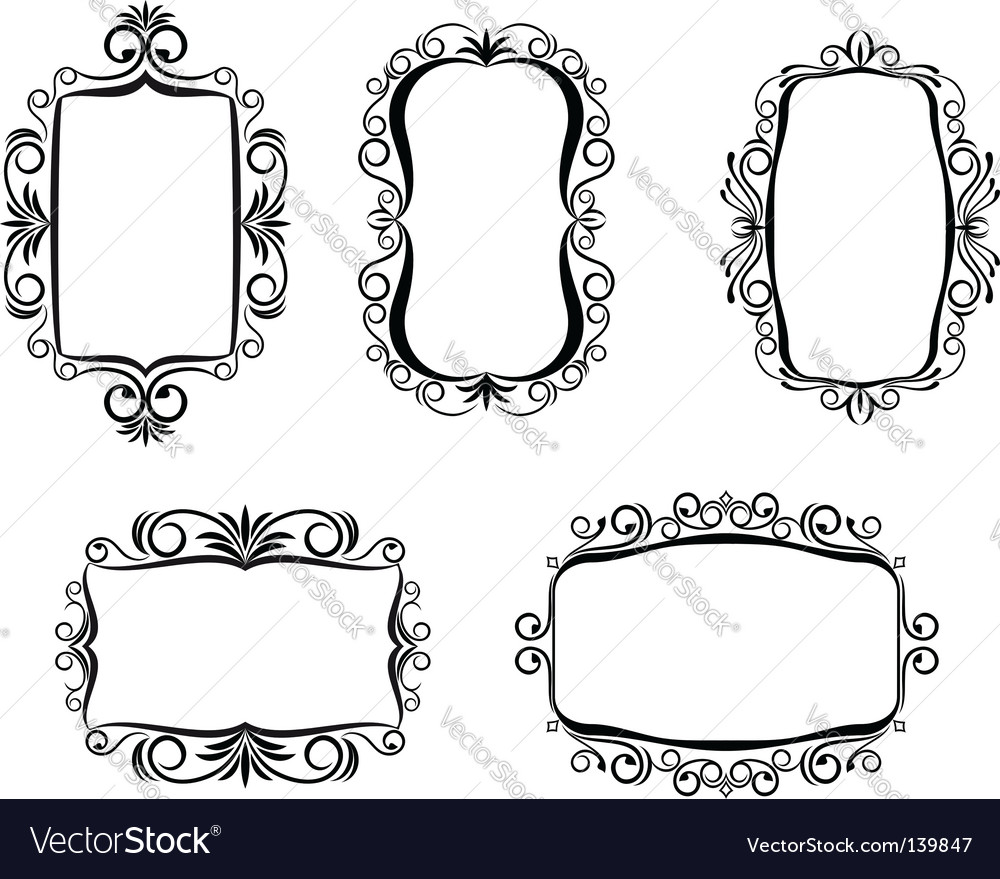 Vintage frame for design vector