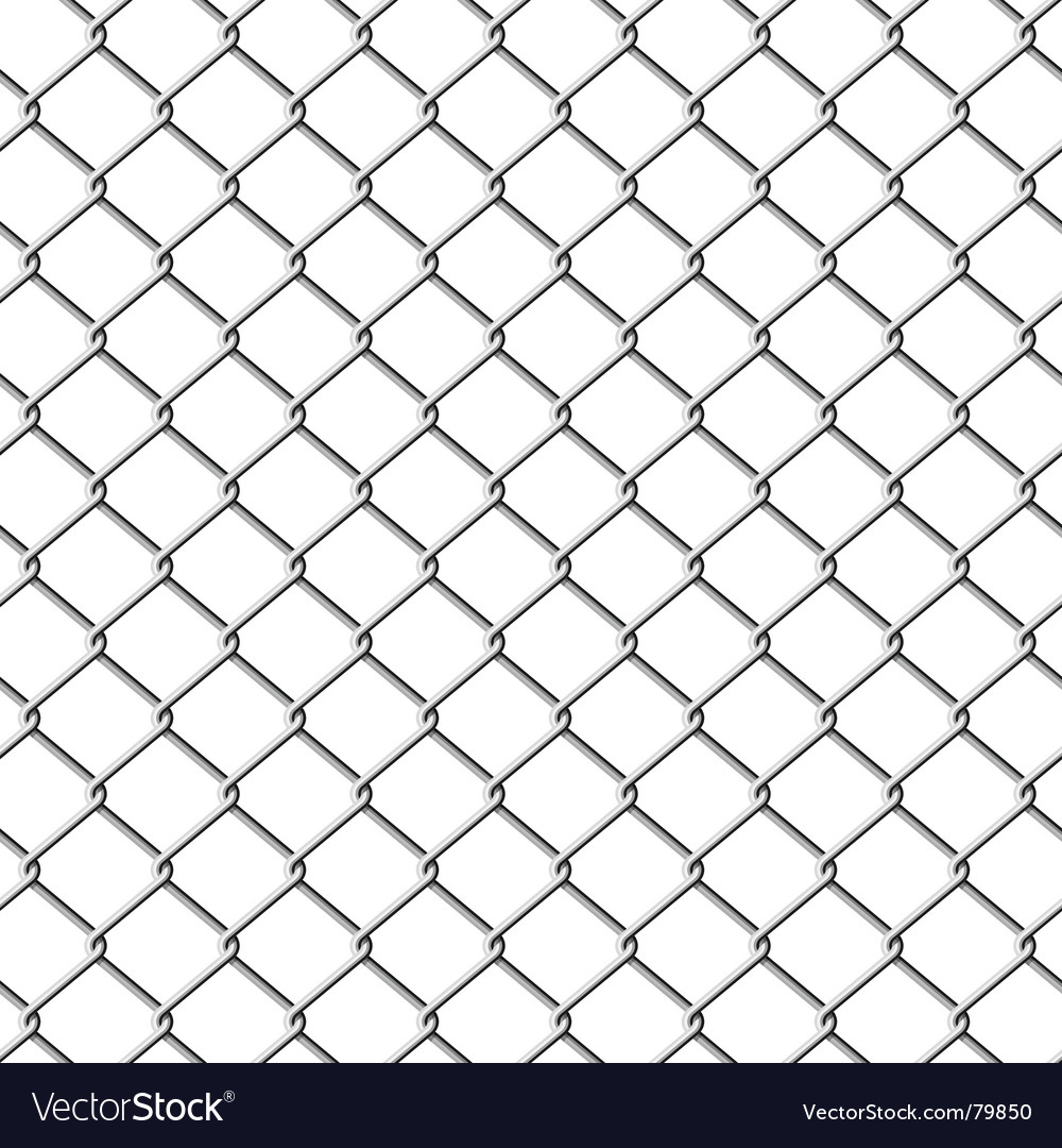 Chainlink fence seamless vector