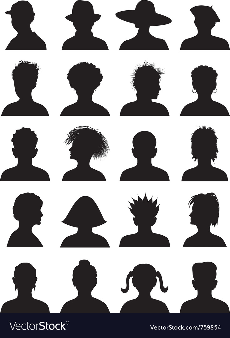 20 anonymous mugshots vector