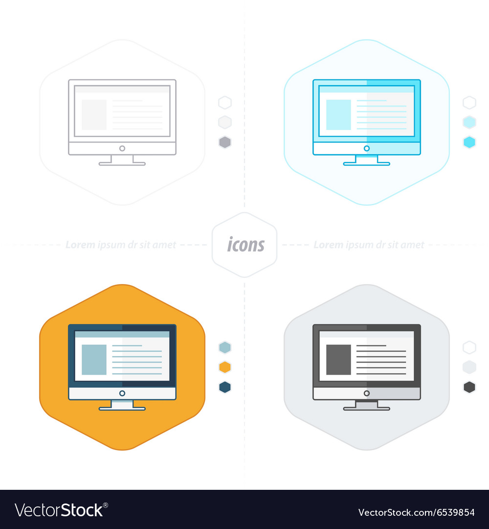 Computer icons 4 design vector