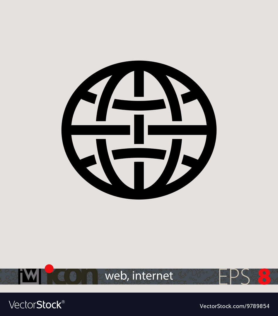 Internet web icon vector