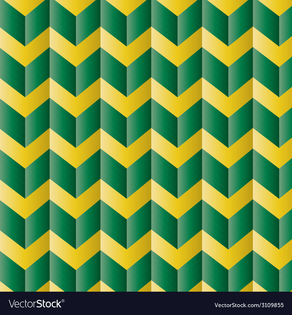 Chevron green and yellow pattern vector