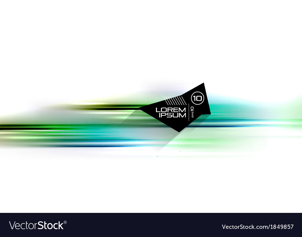 Abstract blurred isolated motion lines vector