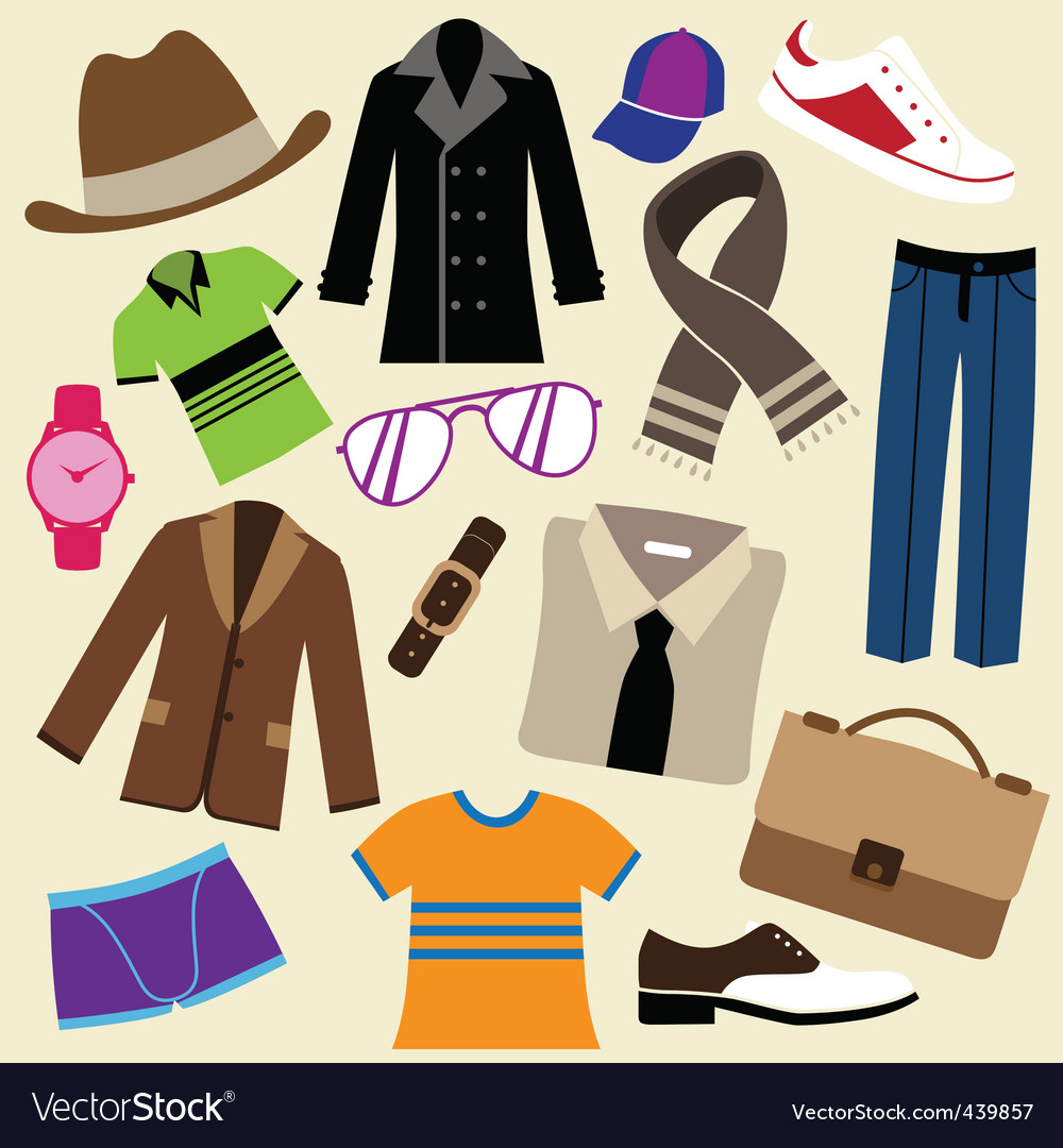 Fashion clothes and accessories vector
