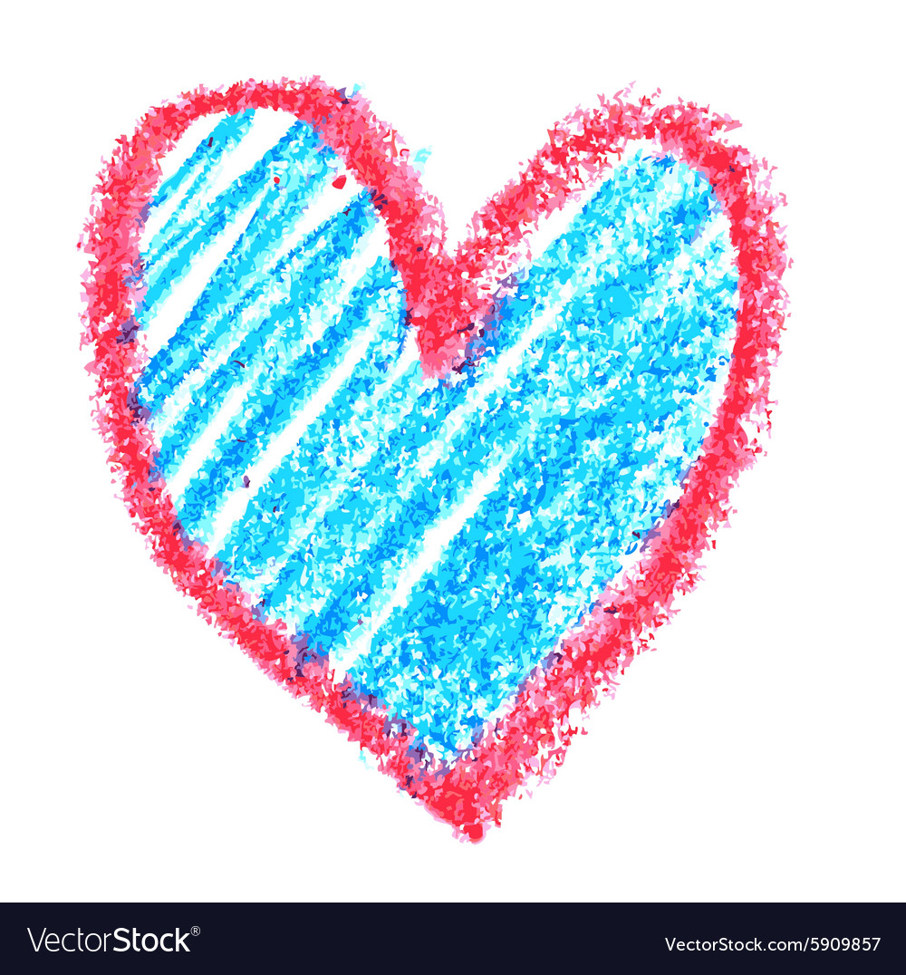 Red and blue heart vector