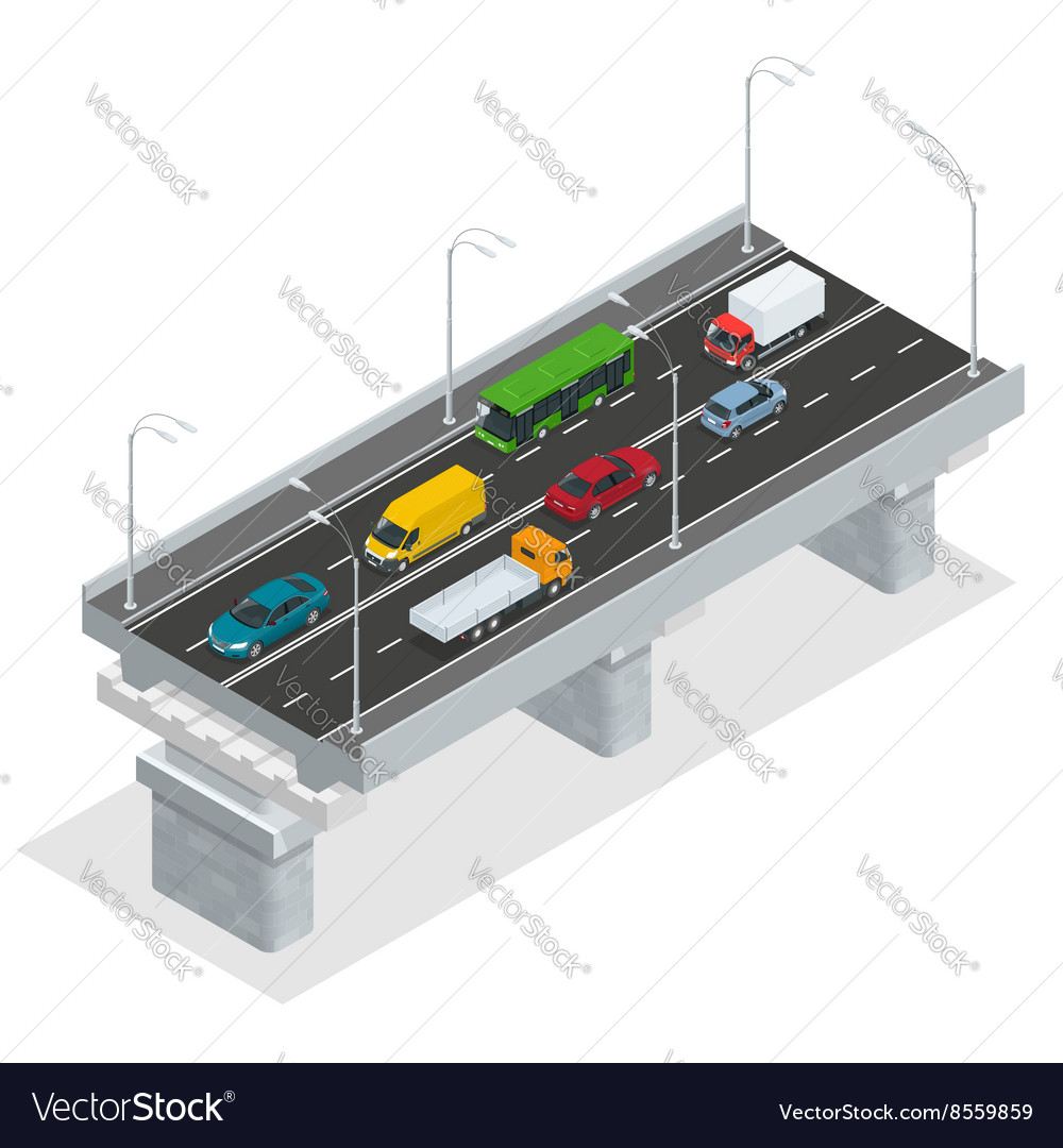 Overpass elevated road vector