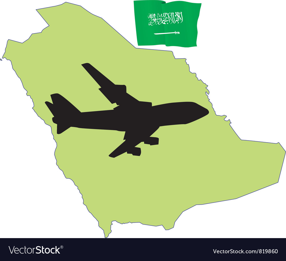 Fly me to the saudi arabia vector