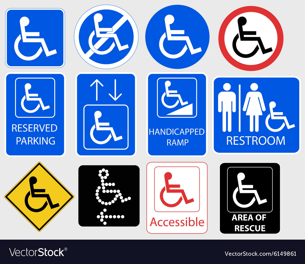 Handicap symbol graphic  vector