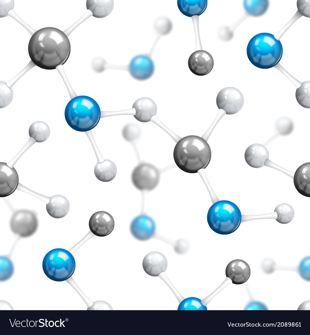 Molecular seamless pattern vector