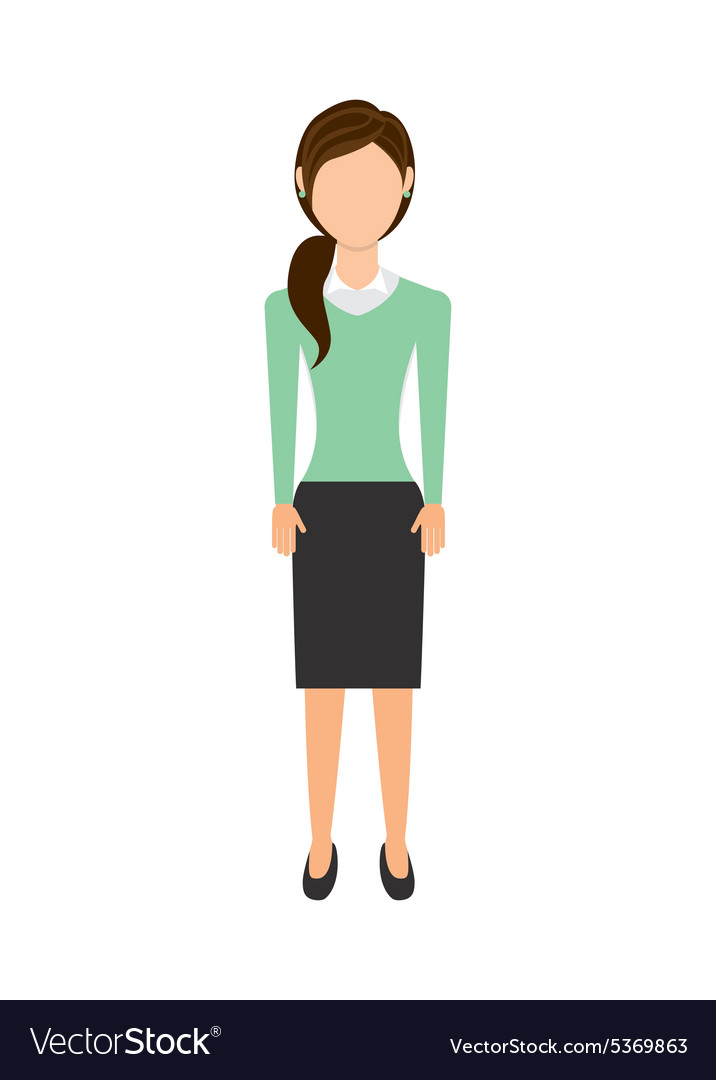 Businesswoman avatar vector
