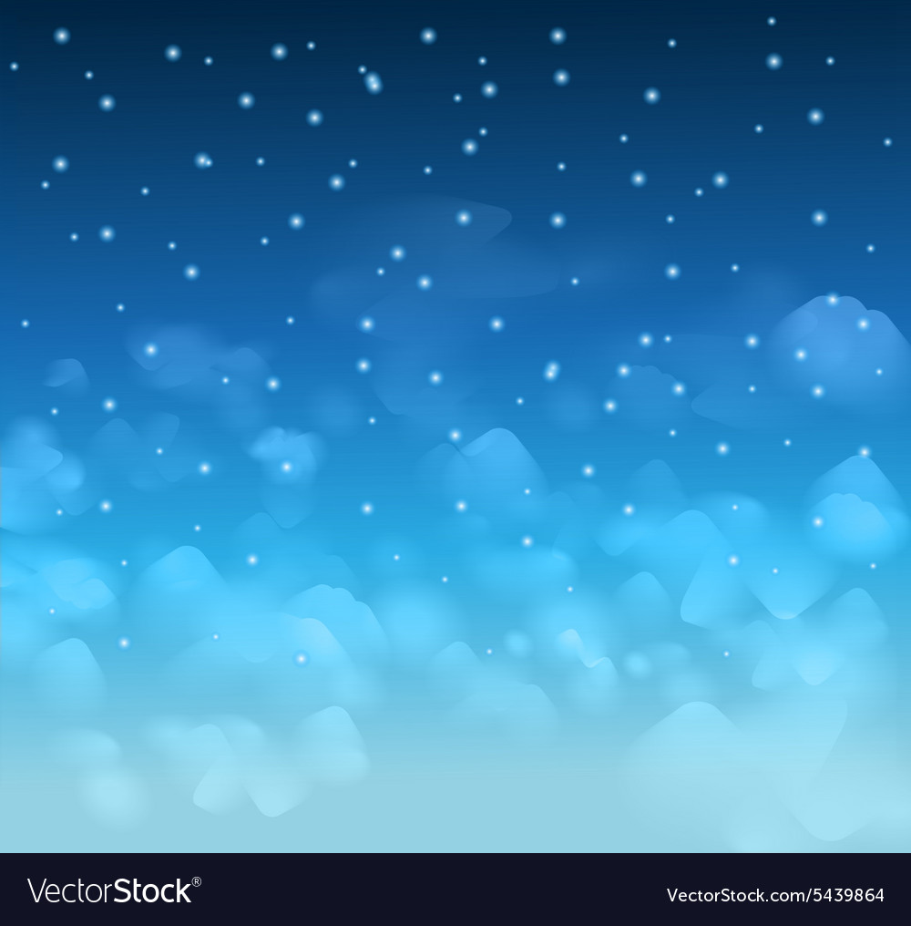 A magical nigh blue sky with stars and delecate vector