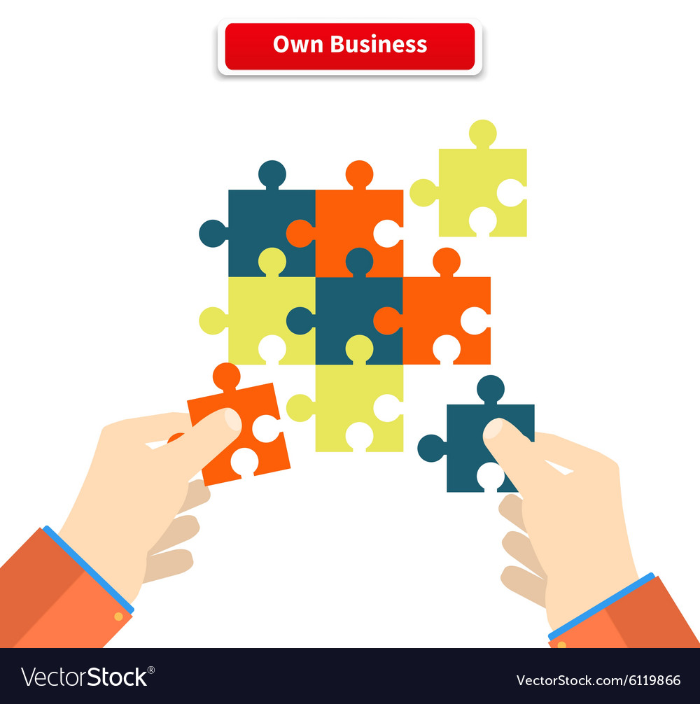 Creating or building own business concept vector
