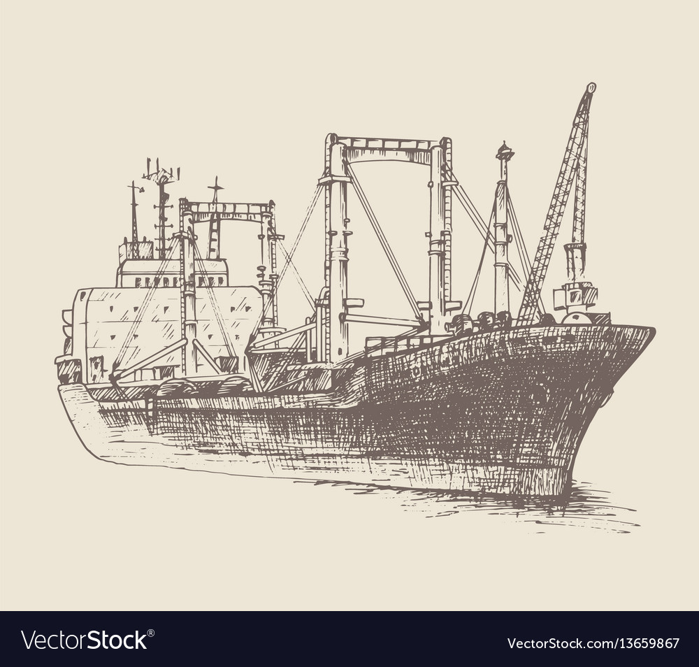 Cargo ship reefer forward vector
