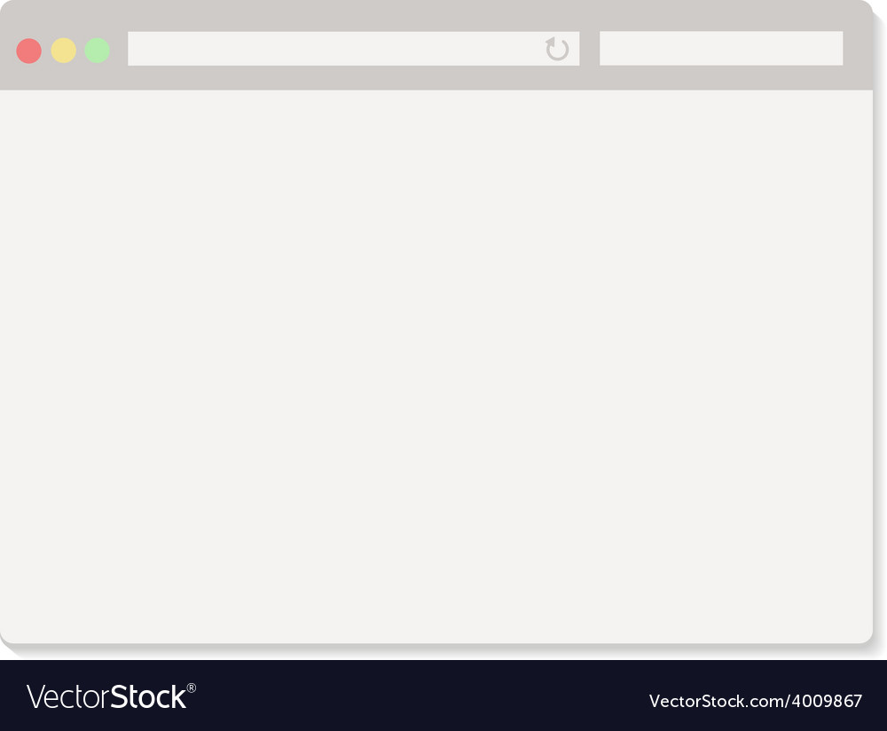 Simple browser window on white vector