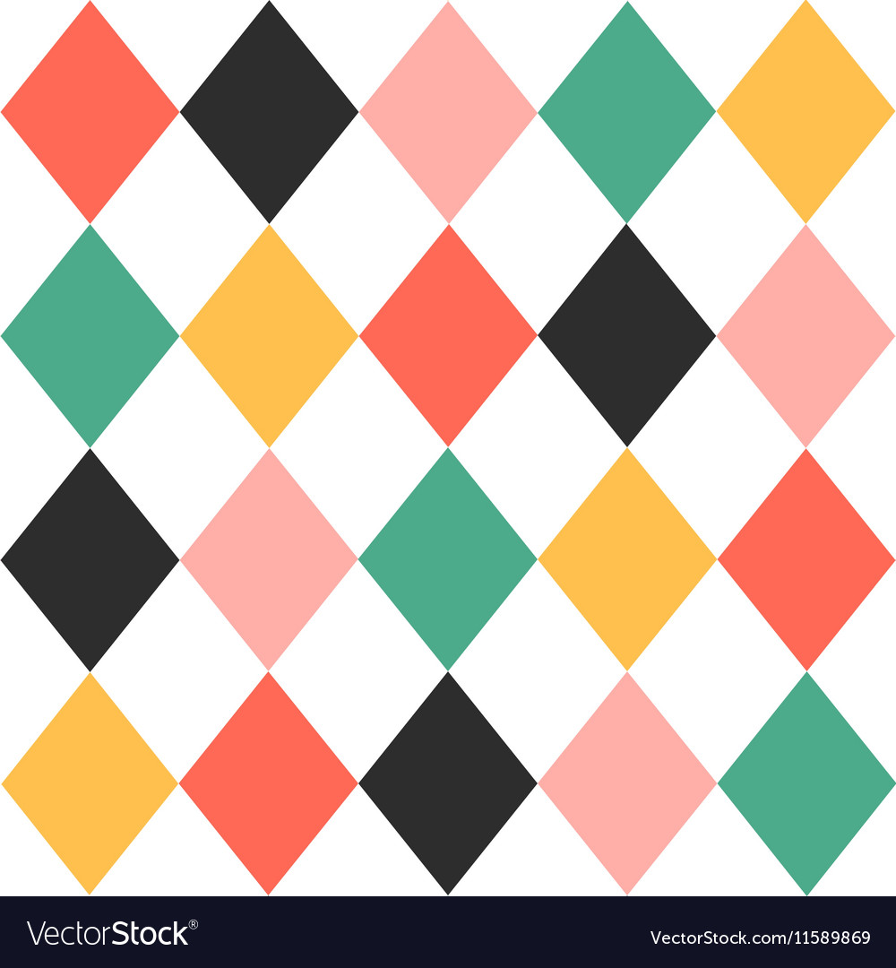 Colorful chess board diamond background vector