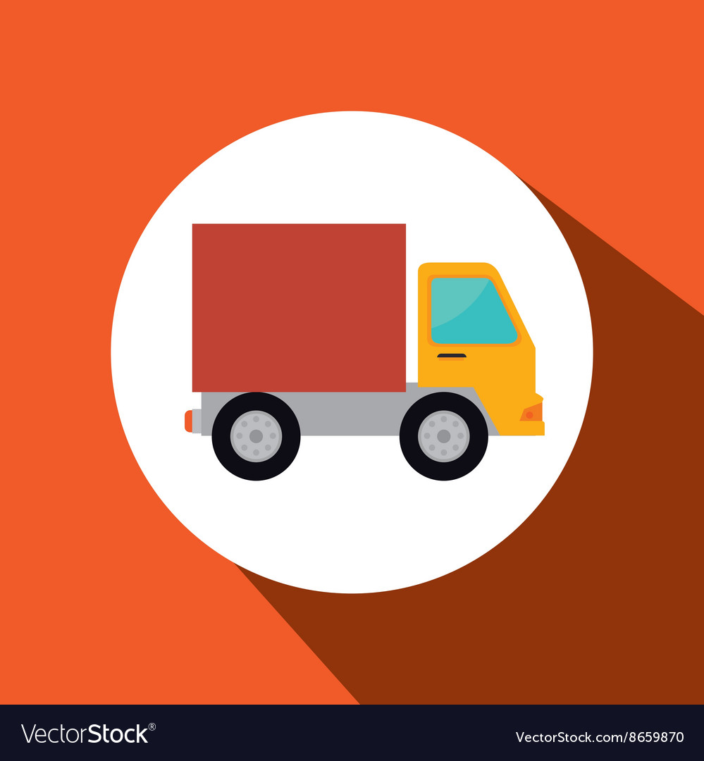 Truck isolated design vector