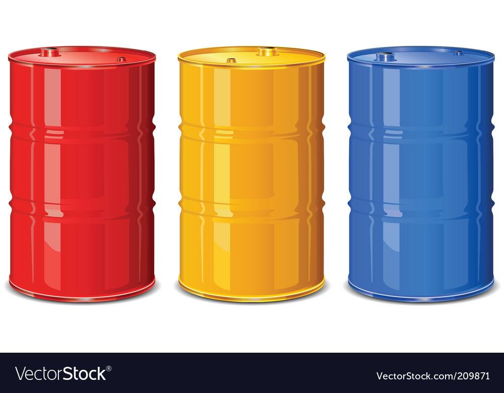 Color barrels vector