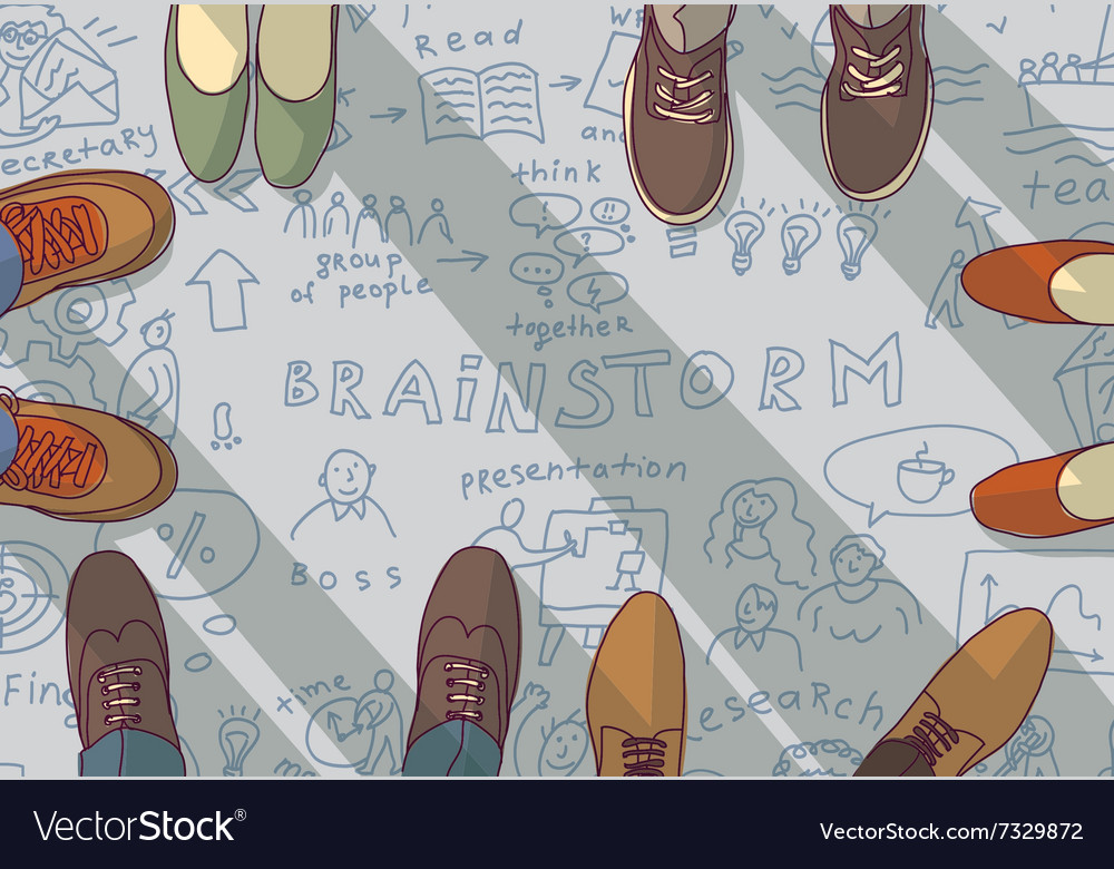 Creative team group people ideas brainstorm vector