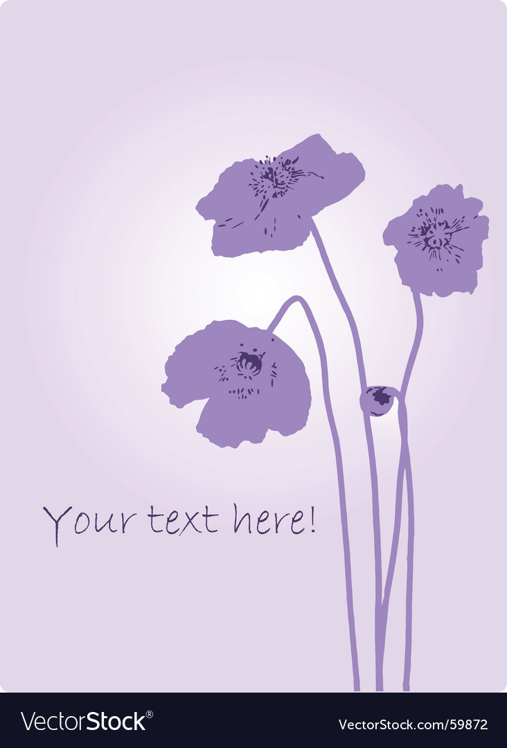 Poppies silhouette vector