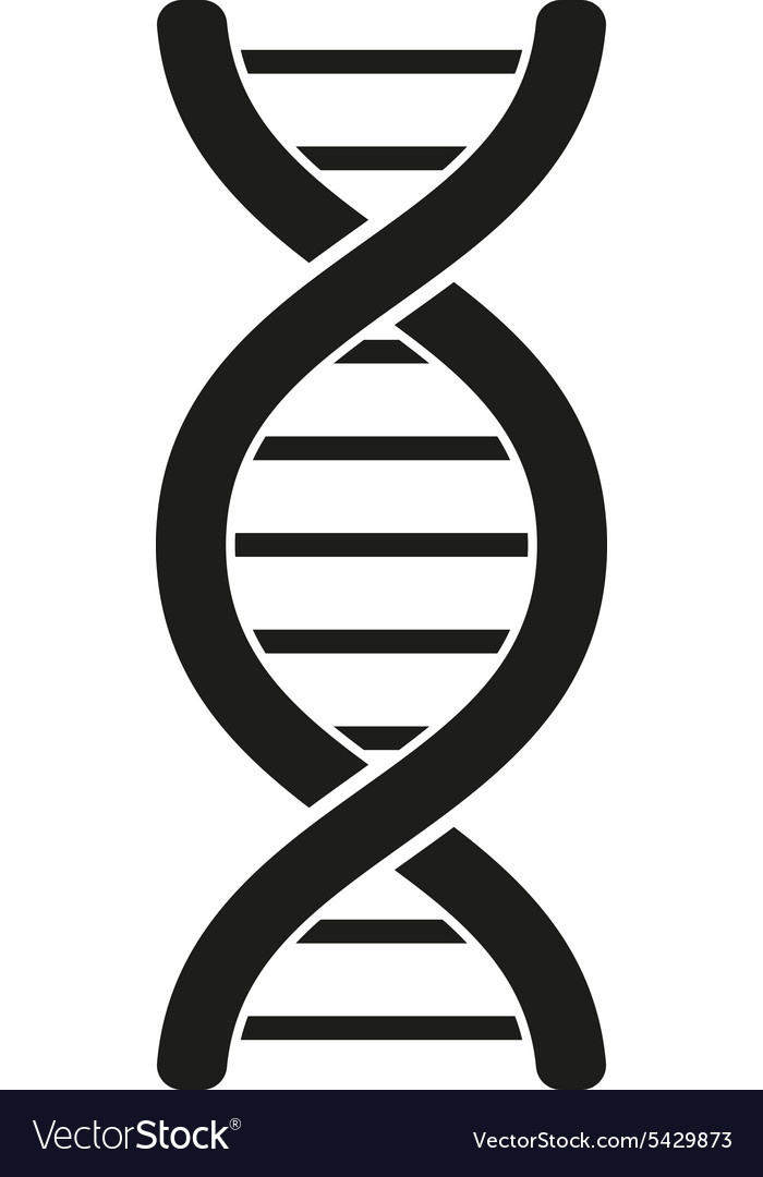 Dna icon genetic symbol flat vector