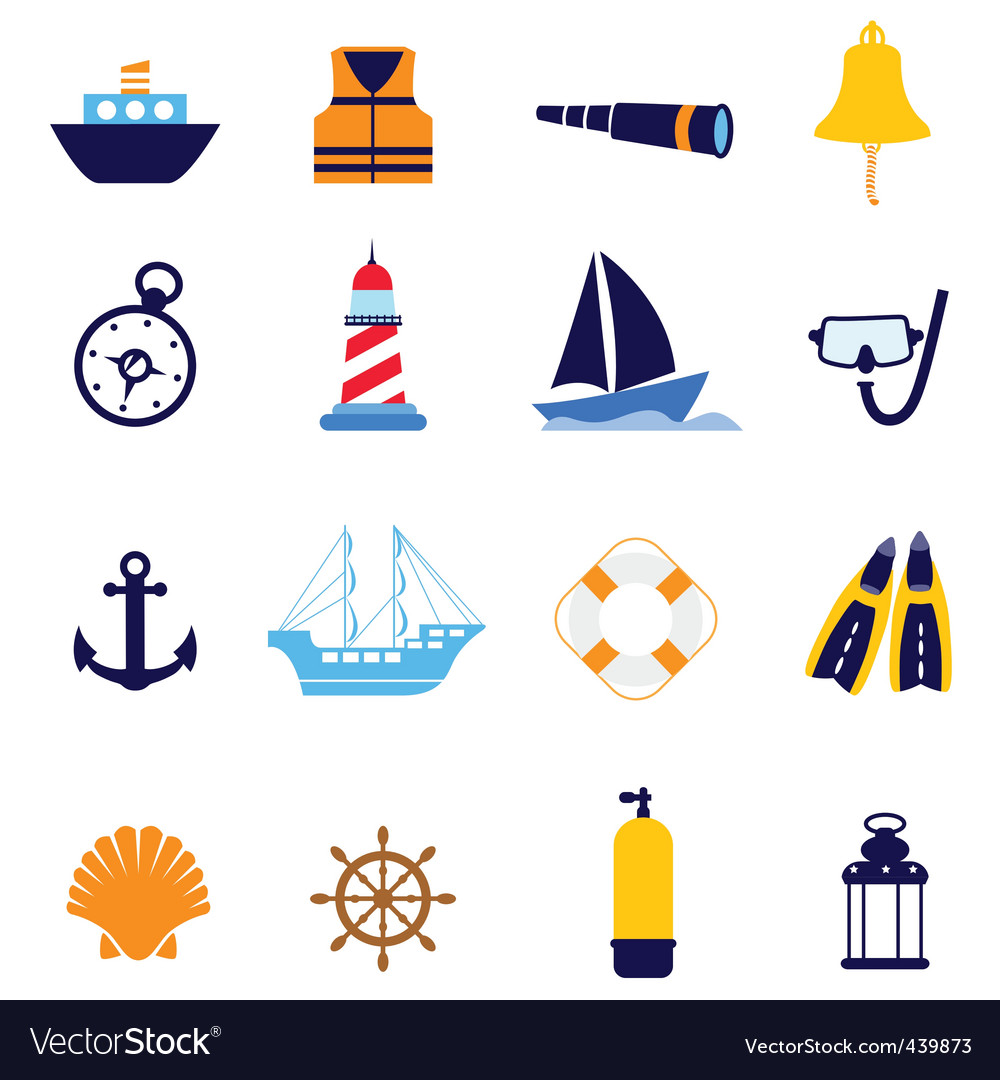 Nautical icon vector
