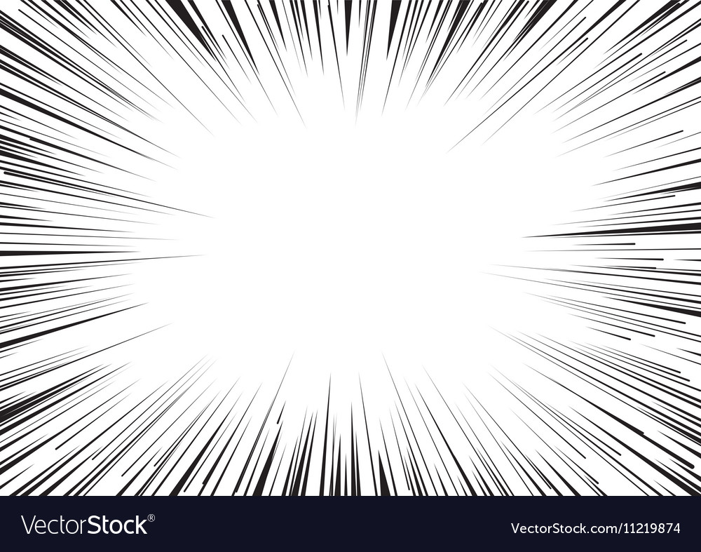 Background of radial lines for comic books vector