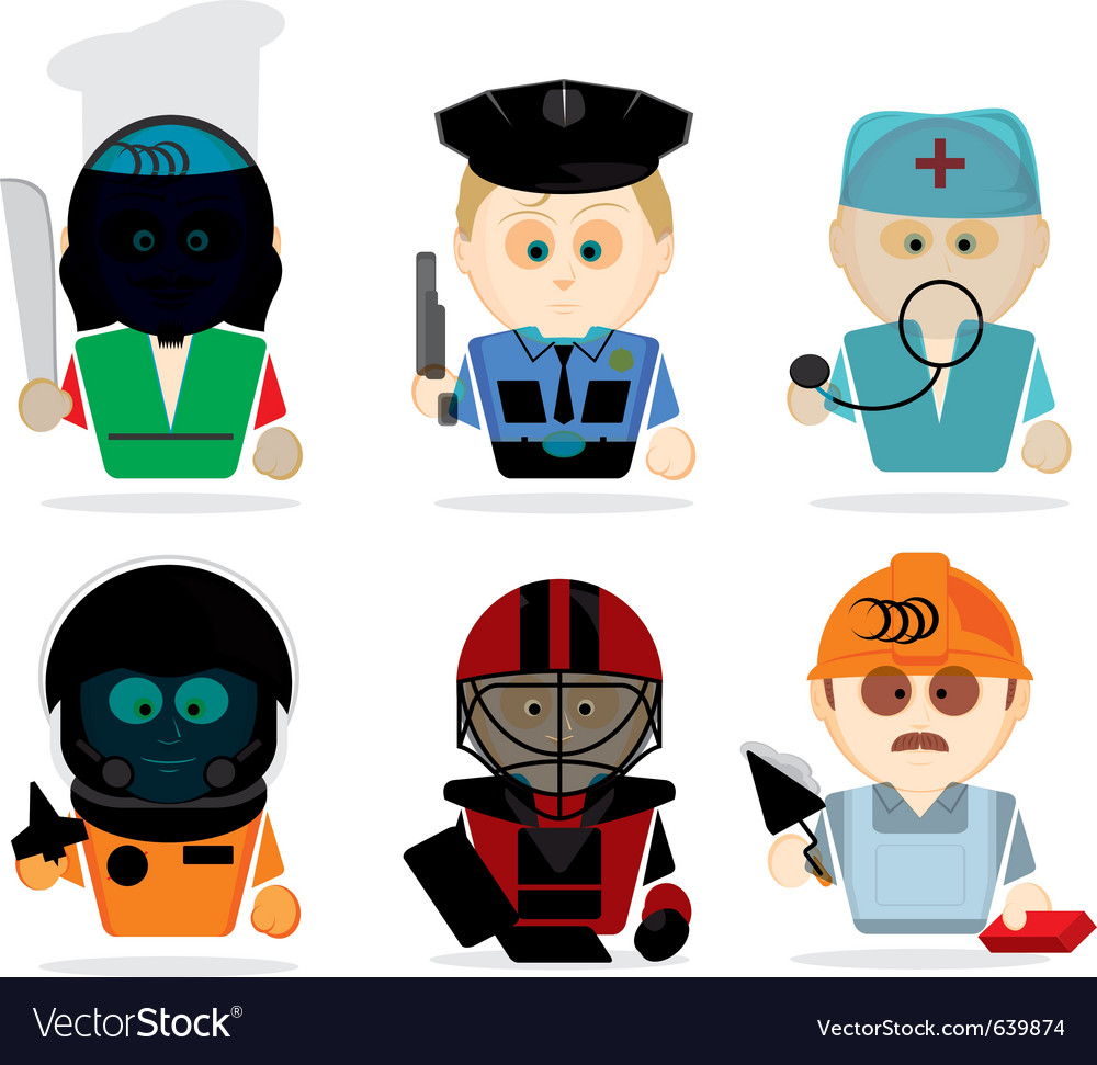 Famous professions vector