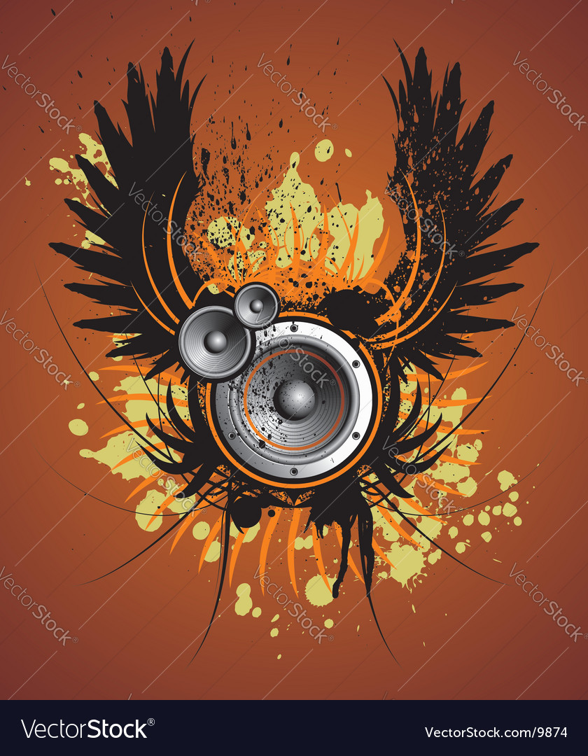 Music heraldry vector