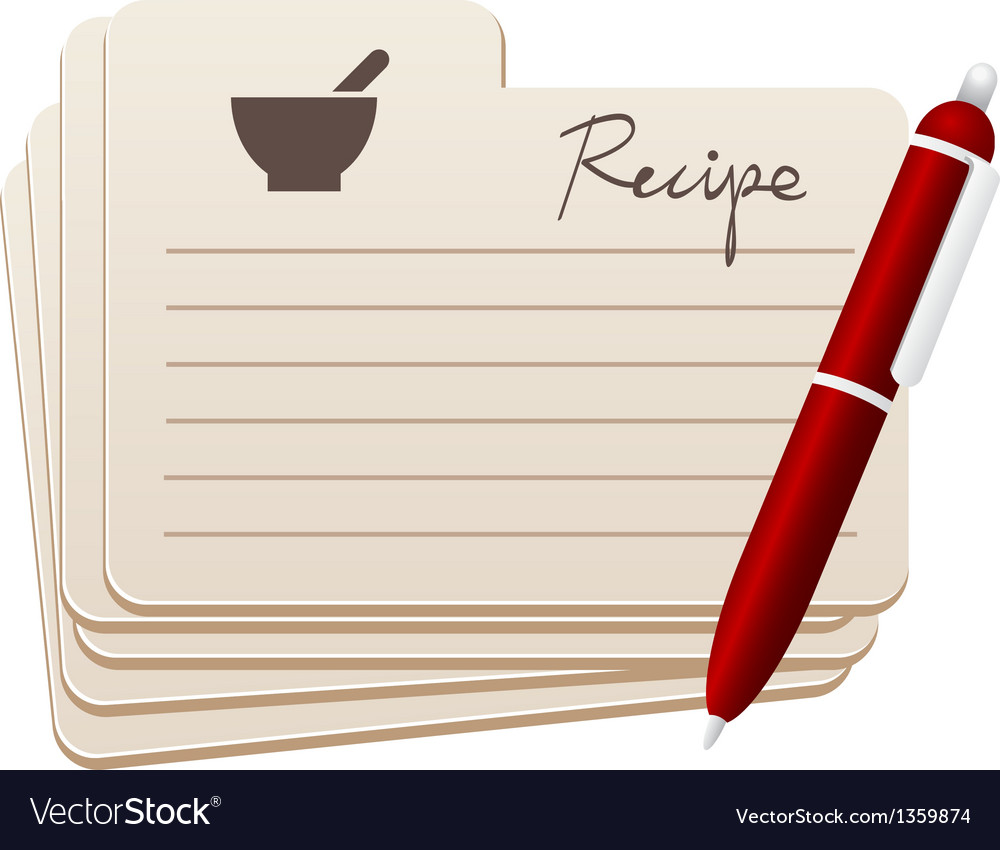 Recipes vector