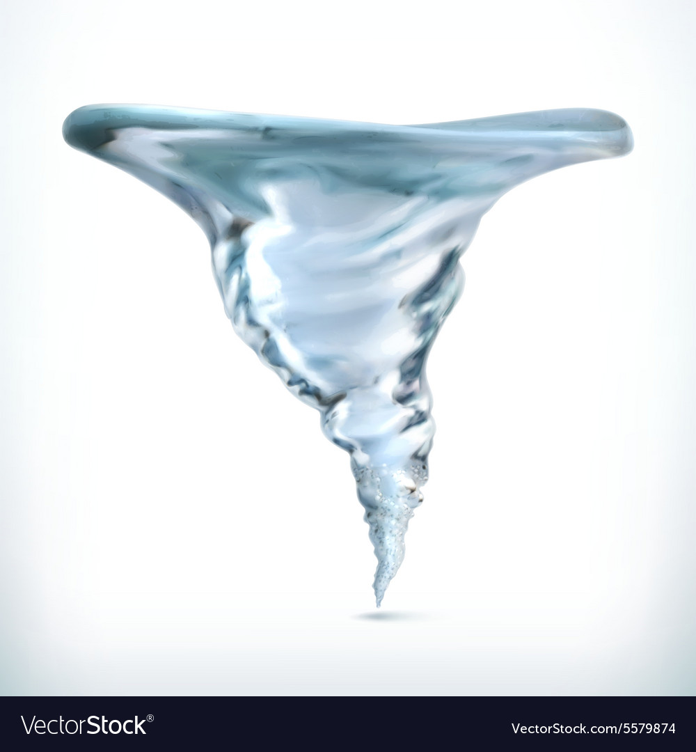 Tornado in water icon vector