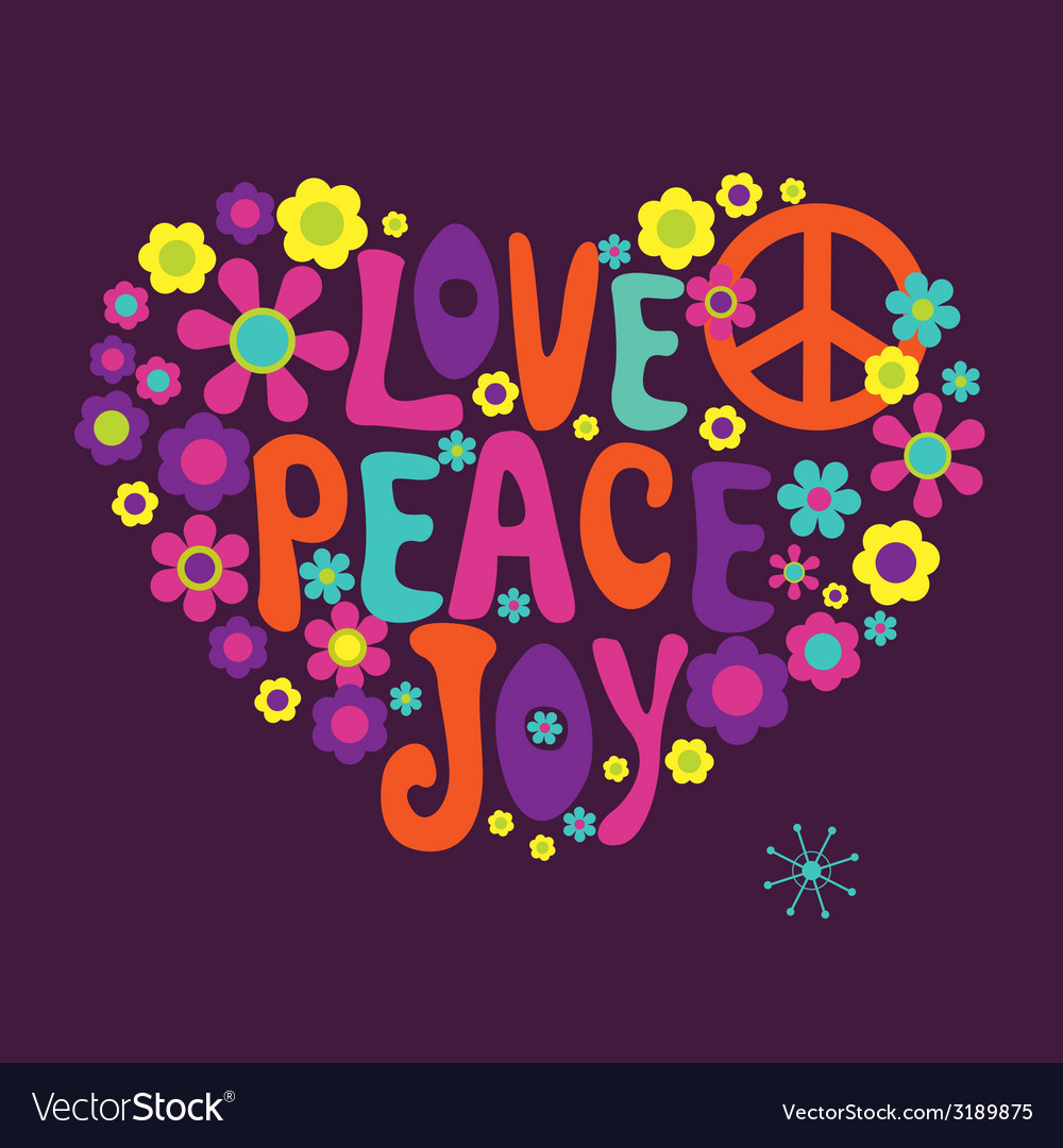 Love peace joy vector