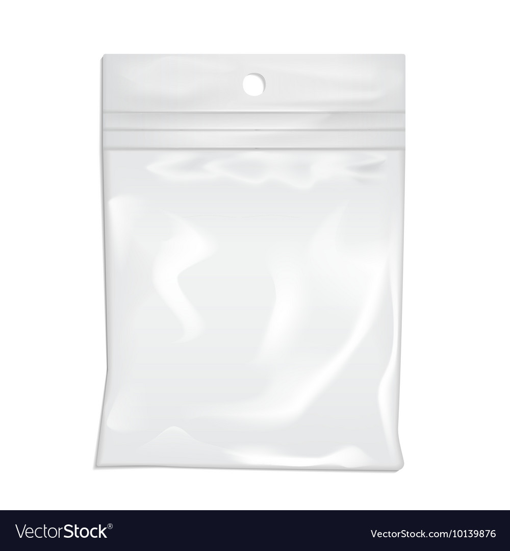 Package plastic pocket a vector