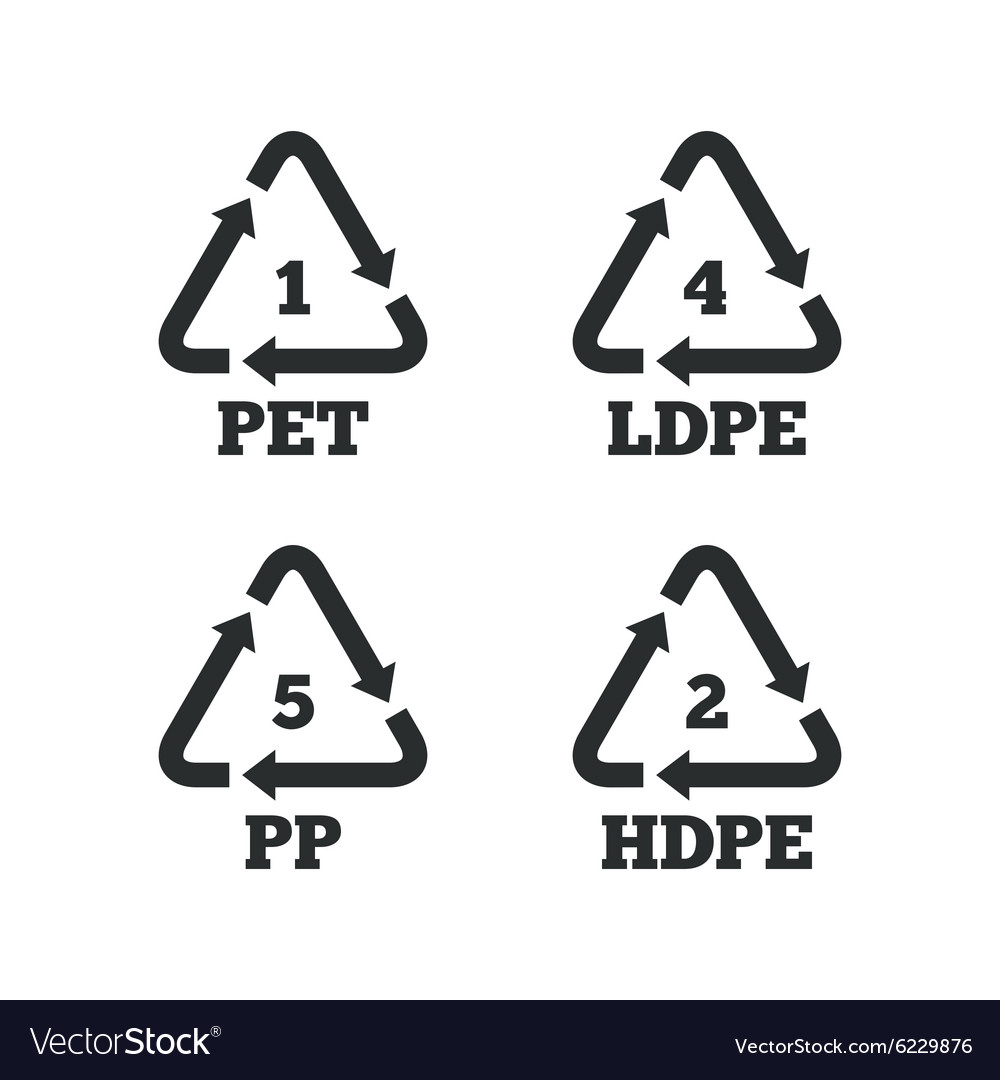 Pet ldpe and pp polyethylene terephthalate vector