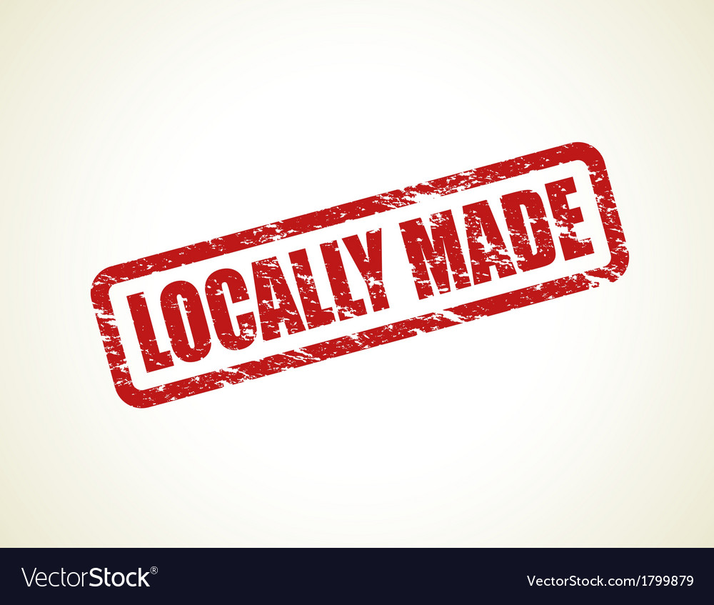 Locally made stamp vector