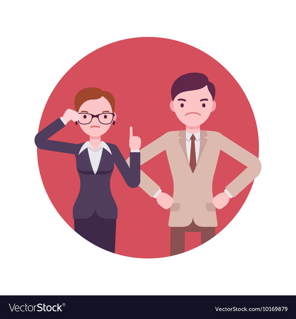 Strict office workers vector