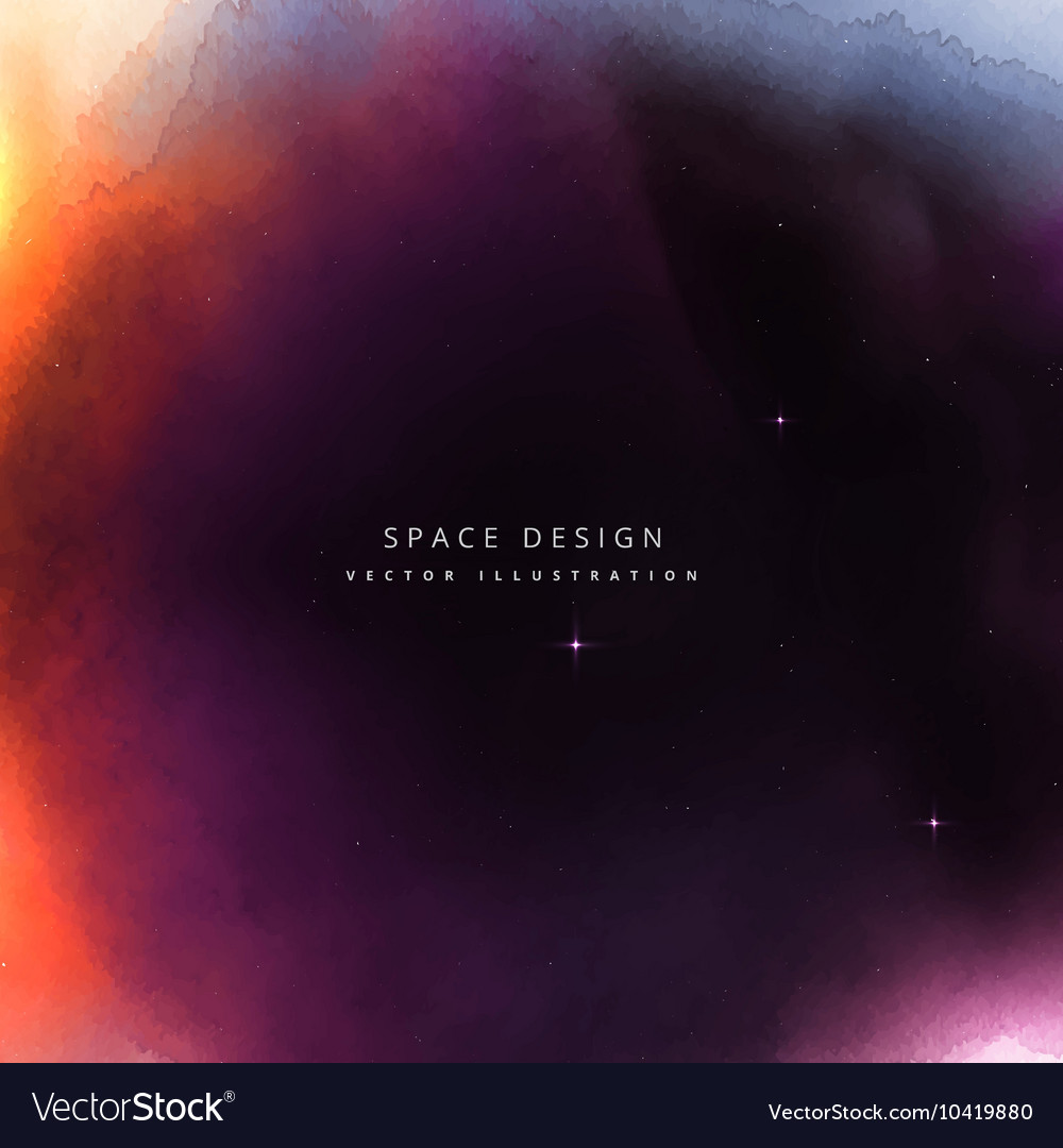 Colorful space design background vector