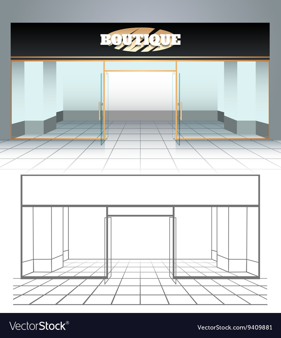 Shop or boutique view vector