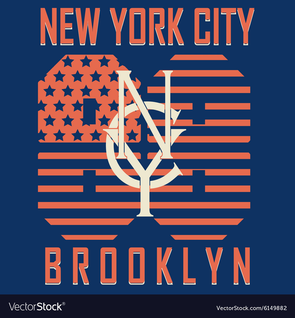 Brooklyn original sportwear tshirt vector