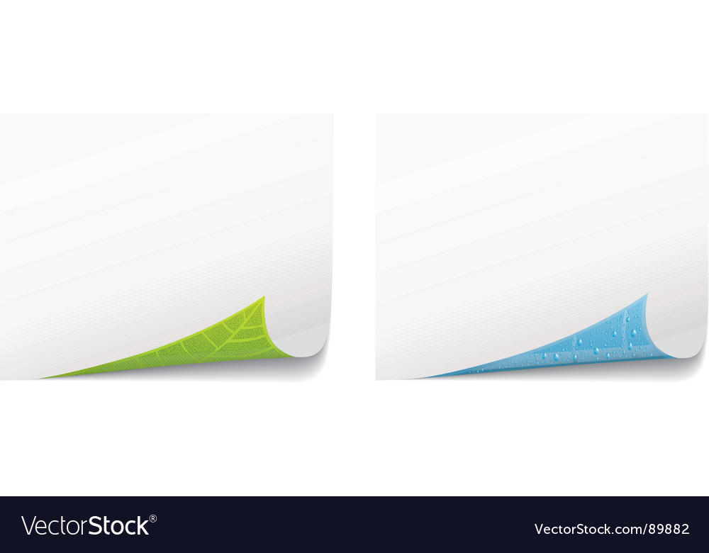 Paper page curl environment concept vector
