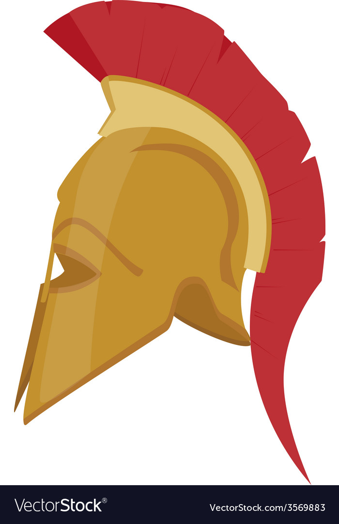 Ancient helmet vector
