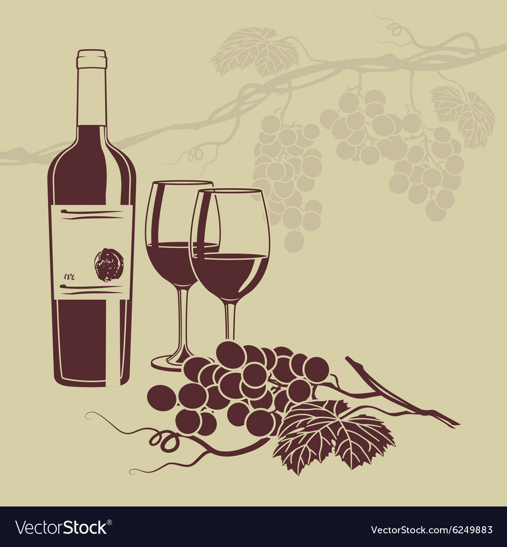 Background template for the wine menu vector